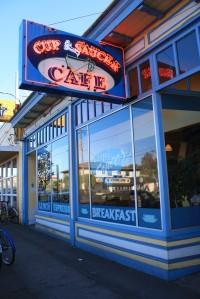 the Cup & Saucer Café, Portland