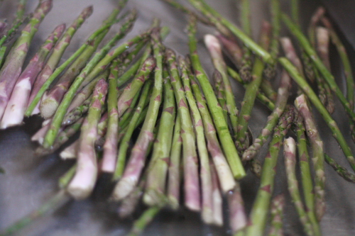 asparagus in sink