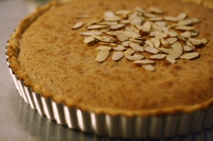 Bakewell tart finished
