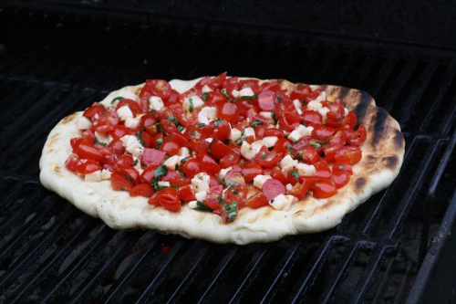 margherita on grill