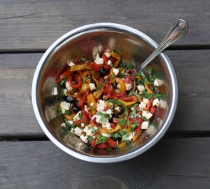 pepper topping in bowl