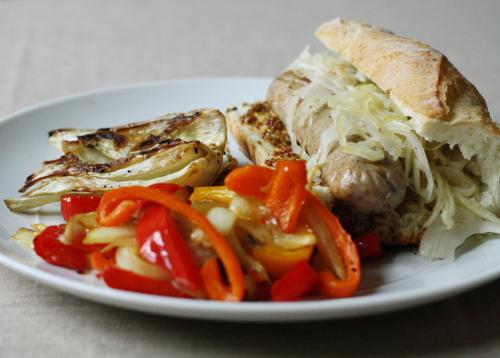 sausage plated