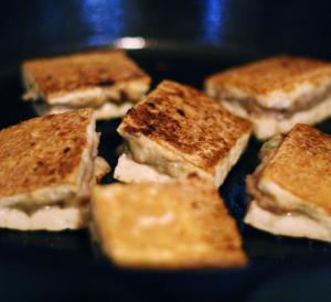 tofu in pan