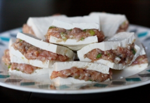 tofu on plate horizontal