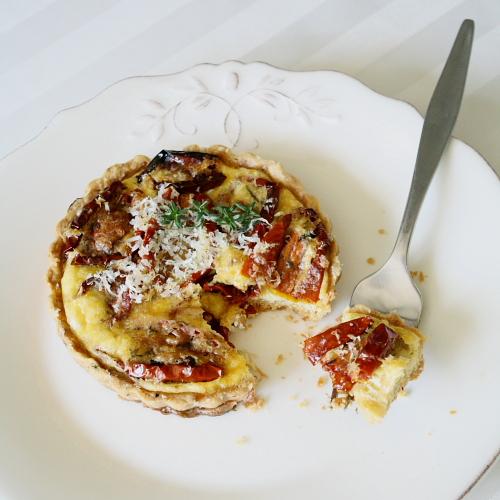 tart on plate 1
