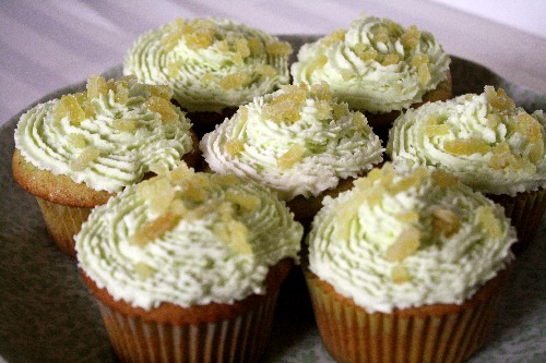 ginger green tea cupcakes