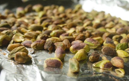 toasted pistachios for pistachio ice cream