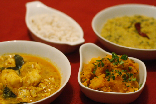 bengali fish curry and dal