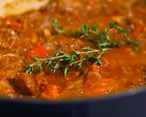 Chilindron- Spanish stew with thyme