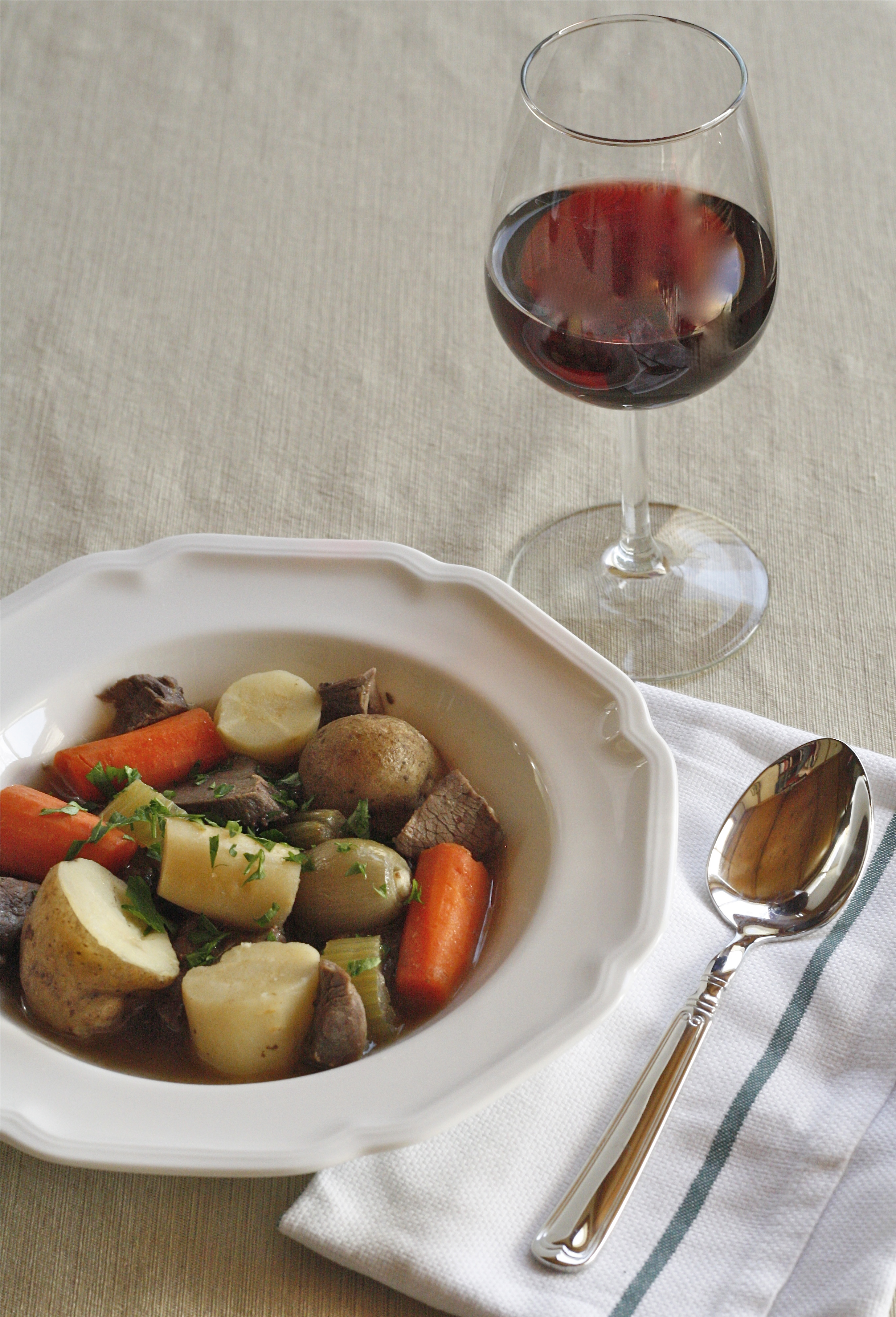 venison stew with root vegetables
