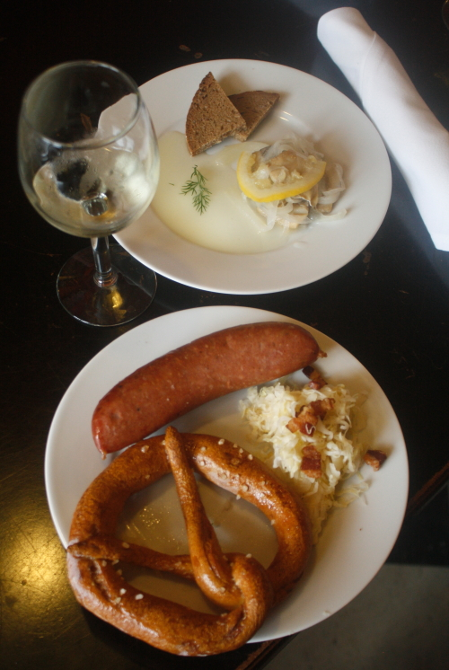 Herring and Knackwurst at Schnack, Detroit